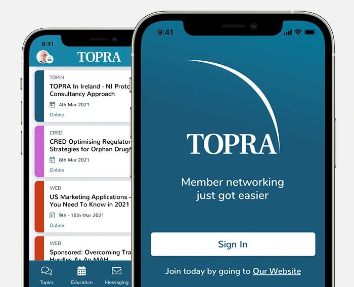 TOPRA Engage app photo